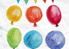 Free vector Hand painted colorful balloons #1978
