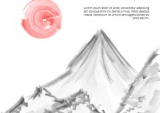 Free vector Hand painted japanese background #2898