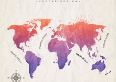 Free vector Hand painted world map #123