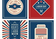 Free vector Happy labor day cards #3728