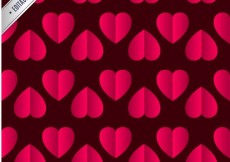 Free vector Hearts pattern #1081