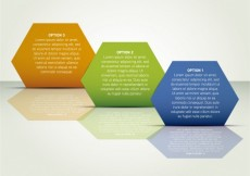 Free vector Hexagonal infographics steps in diagonal position #1850