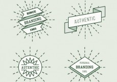 Free vector Hipster badges #857