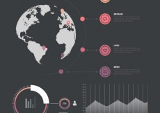 Free vector Infographic template with world map #549