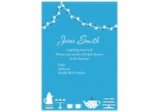 Free vector Invitation Vector for Bridal Shower #3499