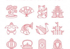 Free vector Japanese icons collection #2899