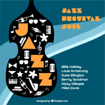 Free vector Jazz festival poster #455