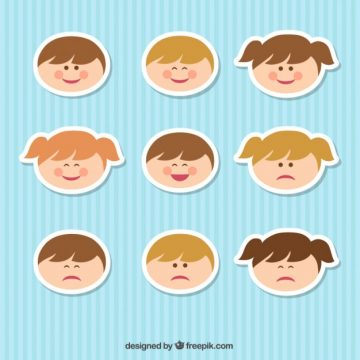 Free vector Kid faces #65