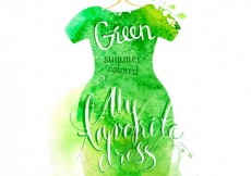Free vector Lettering in green watercolor dress #926