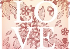 Free vector Love card with flowers #2817