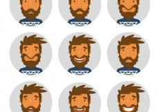 Free vector Man expressions #1753
