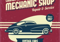 Free vector Mechanic shop poster #499
