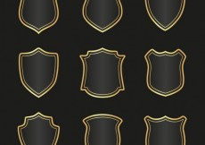 Free vector Medieval shields collection #1471