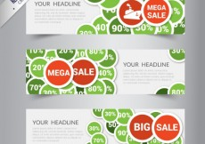 Free vector Mega sale banners collection #2406