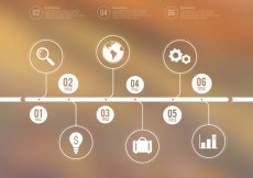 Free vector Modern timeline infographic #3669