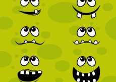 Free vector Monster faces #544