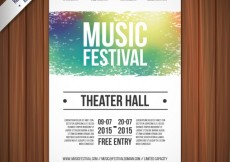 Free vector Music festival poster template #871