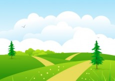Free vector Natural meadow #3392