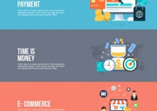 Free vector Online business banners #3756