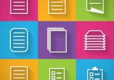 Free vector Paper icons #1635