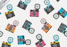 Free vector Pattern with retro cameras #2483