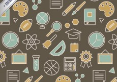 Free vector Pattern with school items #941