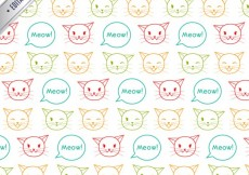 Free vector Pattern with sketchy cats #2325