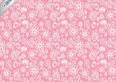 Free vector Pattern with sketchy flowers #1010