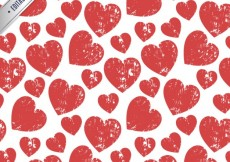 Free vector pattern with stamped hearts #1205
