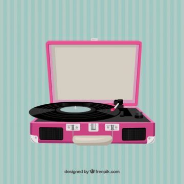 Free vector Pink record player #3470