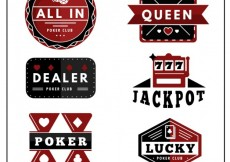 Free vector Poker club badges #1289