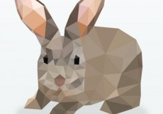 Free vector Polygonal rabbit #215