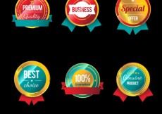 Free vector Premium badges collection #2572
