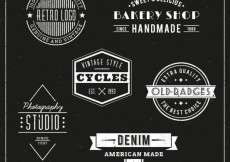 Free vector Retro badges collection #2998