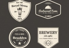 Free vector Retro badges collection #1457