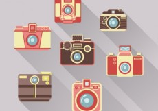 Free vector Retro cameras collection #2626