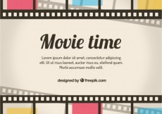 Free vector Retro movie time background #159