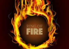 Free vector RIng on fire #2487