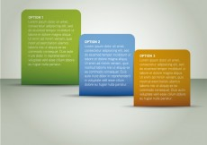 Free vector Rounded rectangular infographics steps #1959