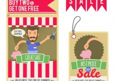 Free vector Sale flyers #305