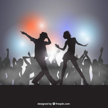 Free vector Silhouettes of people dancing #3103