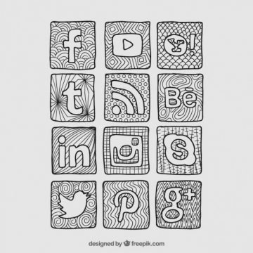 Free vector Sketchy social network icons #604