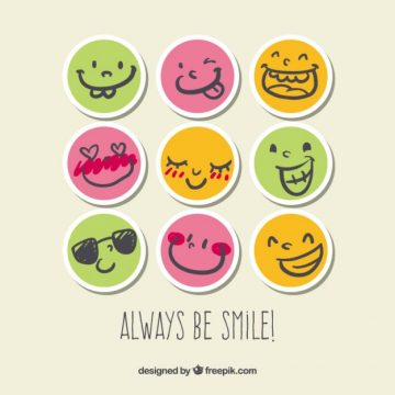 Free vector Smile stickers #38