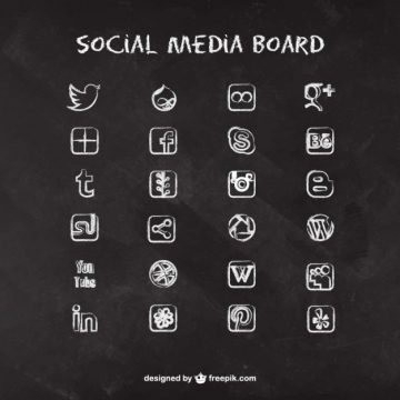 Free vector Social media icons on blackboard #205