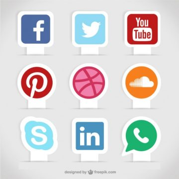 Free vector Social media labels #904