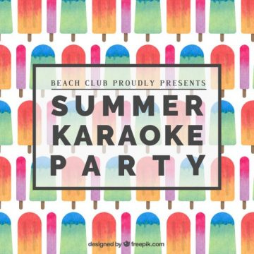Free vector Summer karaoke party poster #1450