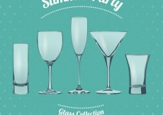 Free vector Summer party glasses #1589