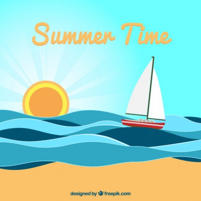 Free vector Summer time illustration #2582