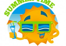 Free vector Summer time with a funny sun #51