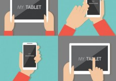 Free vector Tablet and mobile phone #2358